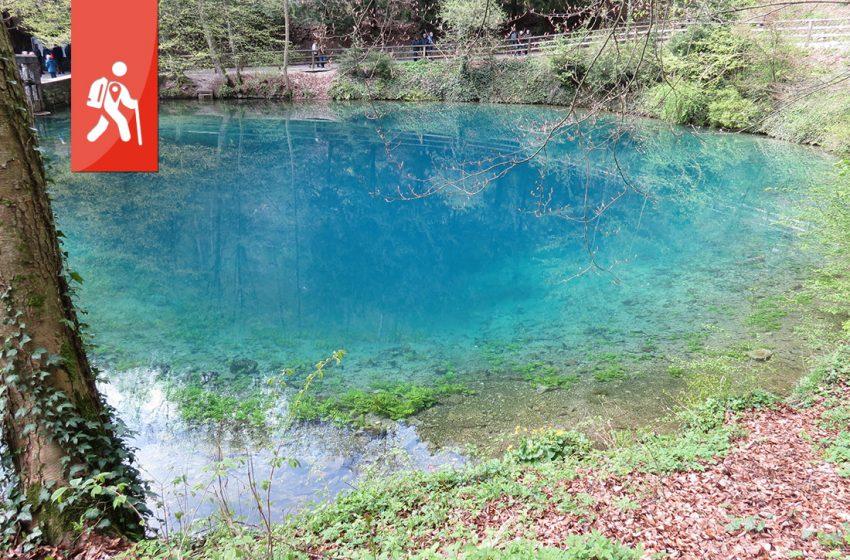 Blautopf – Ruine Rusenschloss und Segelflieger